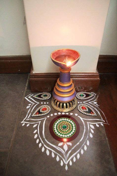 An Indian Design Decor Blog Home Tour Chitra Seetharaman: Diwali Decorations, Decorating Blogs, Diwali Decorations At Home