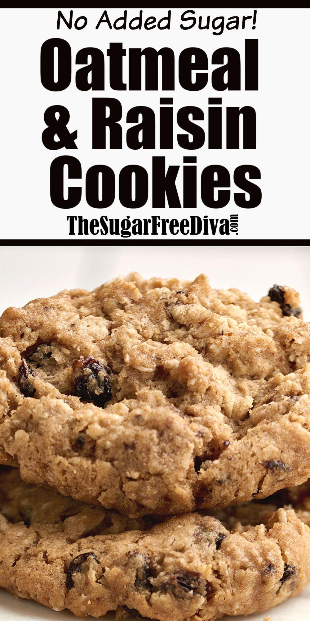 Geen Toegevoegde Suiker Havermout Rozijnenkoekjes Geweldig Trend Sugar Free Oatmeal Cookies Cookie Recipes Oatmeal Raisin Oatmeal Raisin Cookies Healthy