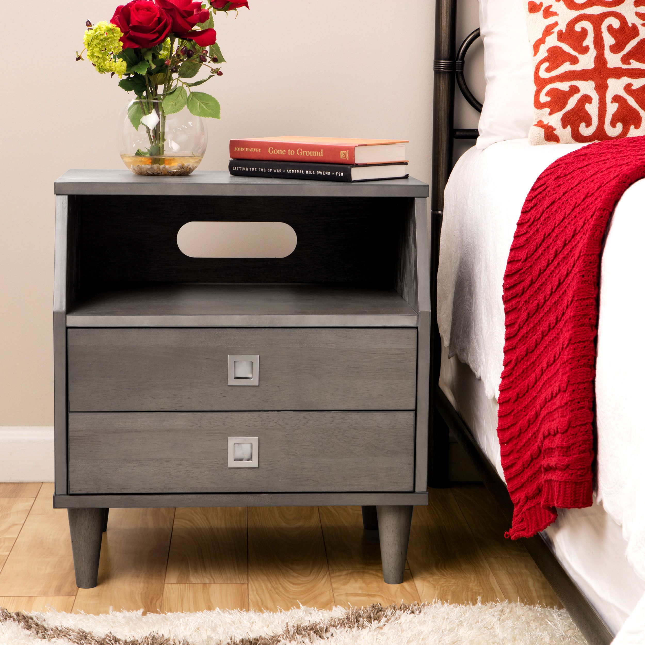 The Marley modular nightstand features a modern design with generous  storage to accommodate all your bedtime