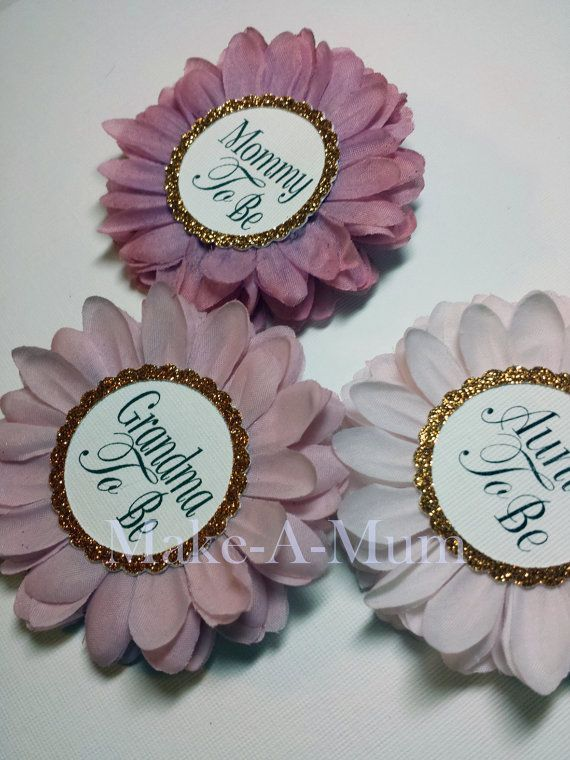 Hand Dyed Baby Shower Wrist Or Pin Corsage, Baby Shower Favors, Mommy To Be  Pin, Grandma To Be, ORCHID/PAPER, MTB,gTB,aTB