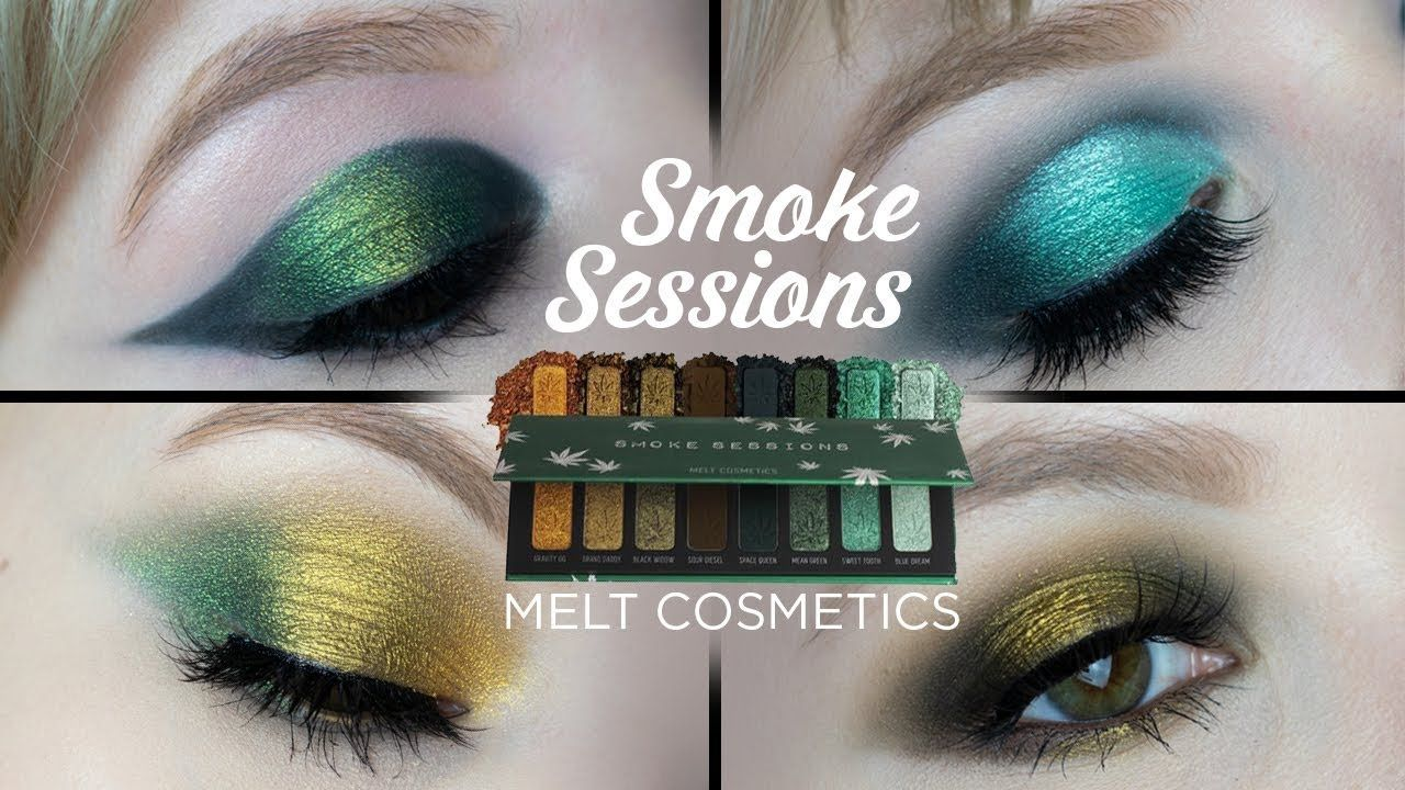 MELT COSMETICS SMOKE SESSIONS PALETTE 4 Looks + Review
