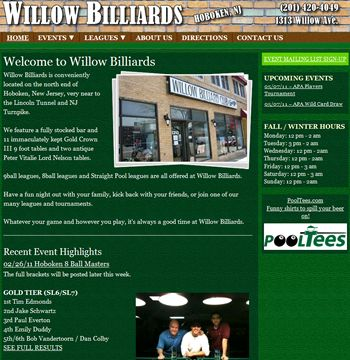 Website Redesign Project For Hoboken New Jersey Pool Hall Project Details At Http Sbmwebsitedesign Com Buddypress Website Design Hoboken Website Redesign