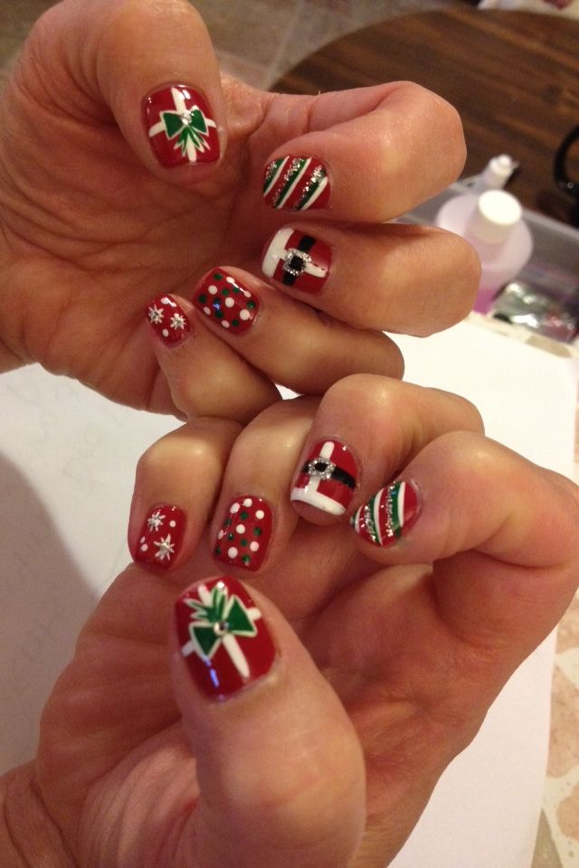 Nail art christmas nails by me 4 u pinterest nail nail nail art christmas prinsesfo Images