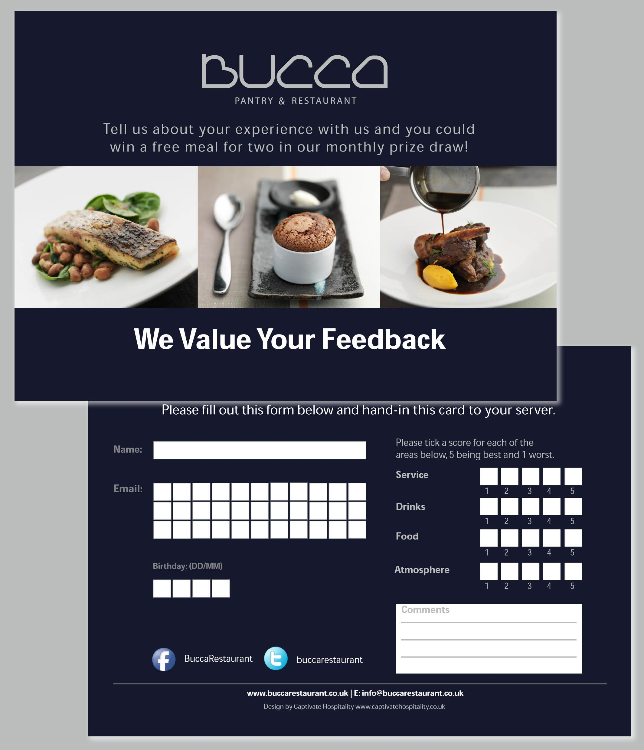 Bucca Comment Card  Graphic Design Inspiration