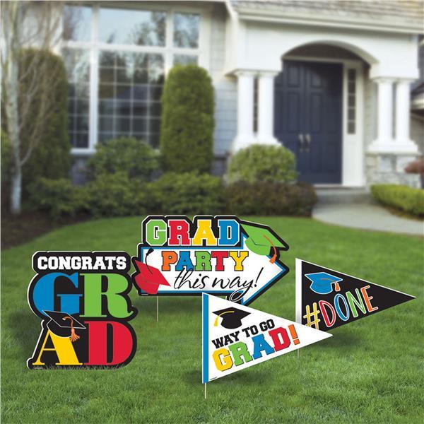 Congrats Grad Corrugate Yard Stakes in 2020 Congrats