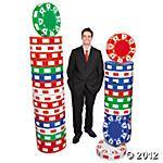3D Poker Chip Columns