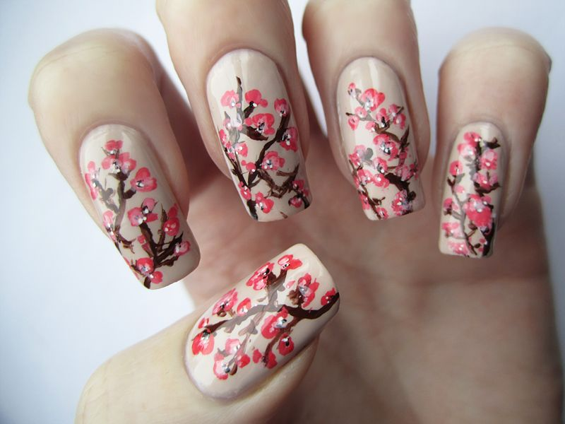 Blossom nails cherry