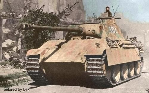 German Panzer V Ausf G Panther Medium Tank. #13B (Color ...