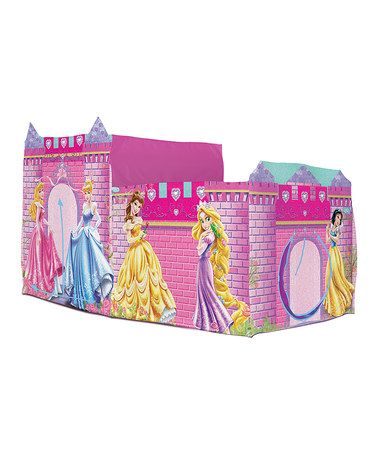 Take a look at this Pink Disney Princess Castle Bed Topper by Playhut on #zulily  sc 1 st  Pinterest : disney princess mega castle playhut tent - memphite.com