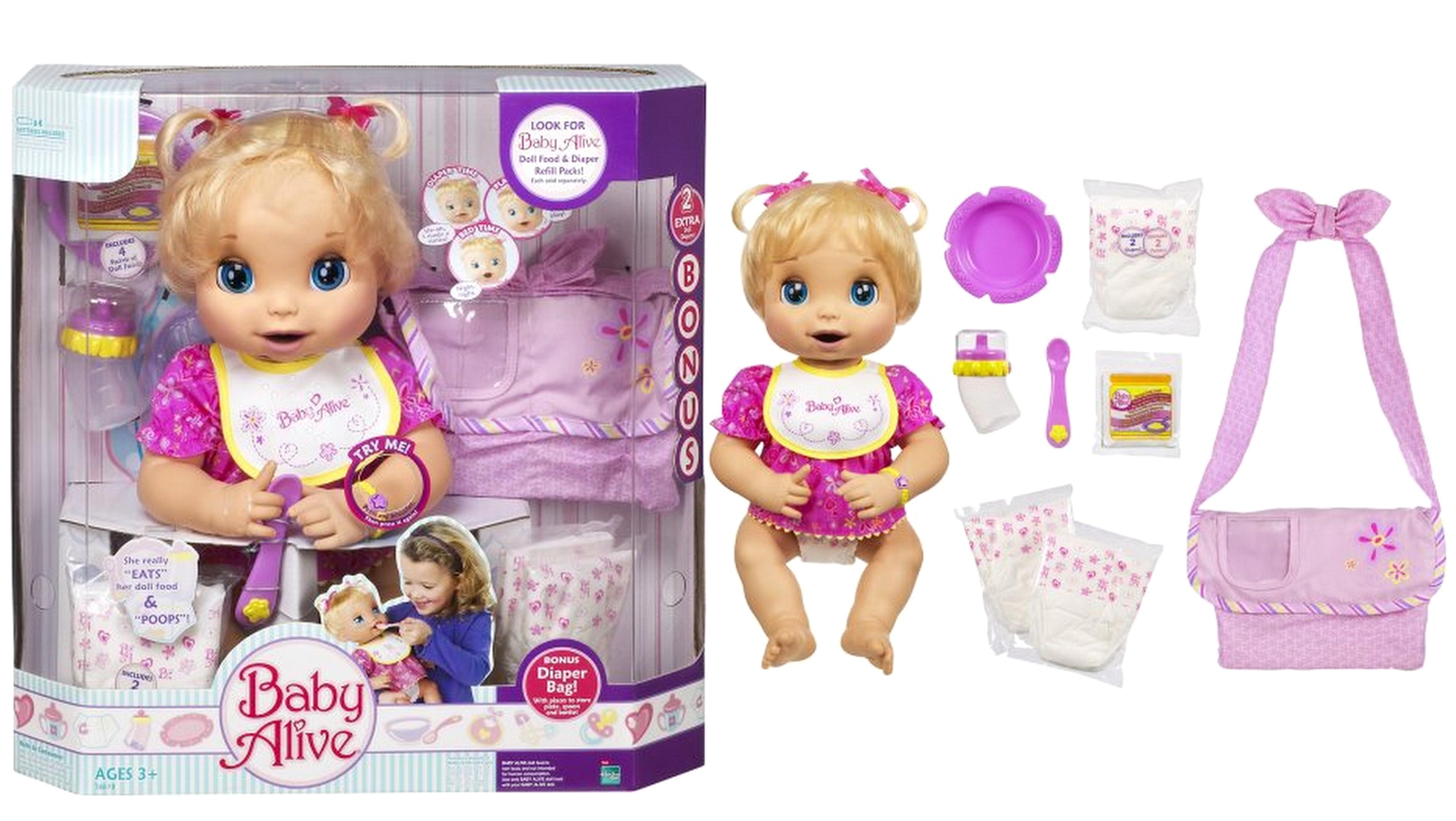 NEW Classic Baby Alive Girl Doll BONUS Diaper Bag Set 2006