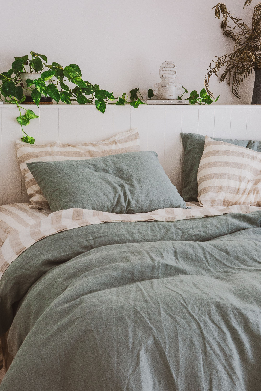 Serene Sage For A Calminhg Aethetic Home Decor Feeling Sage Green Bedroom Bedroom Interior Relaxing Bedroom