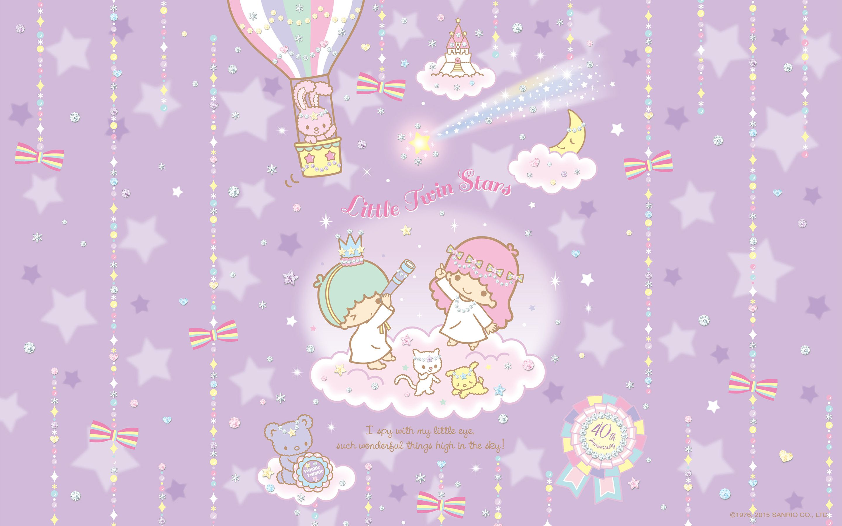 Android Iphone Pc Little Twin Stars Wallpaper 1506 六月桌布 日本草莓新聞 Sanrio Wallpaper Star Wallpaper Little Twin Stars