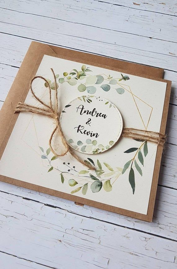 # 10x # invitations # eucalyptus # vert # mariage    – einladungskarte