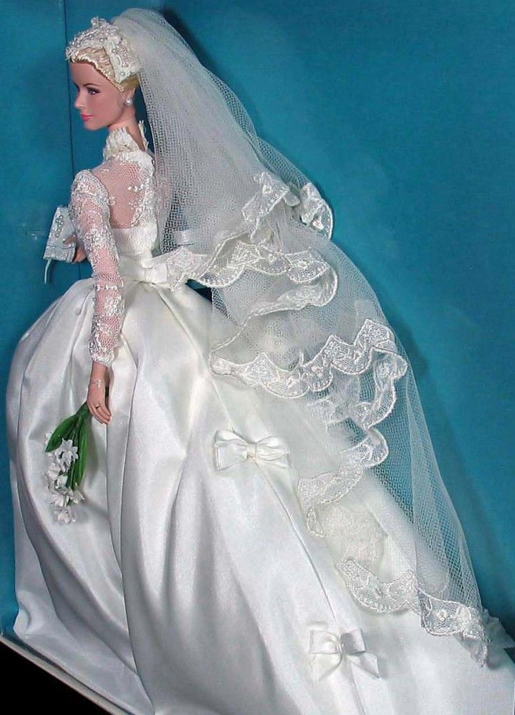 Princess GRACE KELLY • The BRIDE • Gold Label Silkstone Barbie doll ...