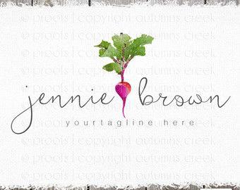 beet logo premade logo cooking logo health food logo hand drawn logo leaves logo sprout logo herb logo premade logo design health logo