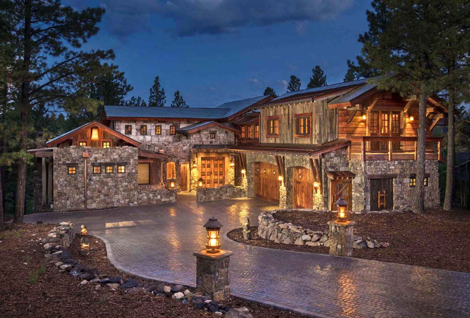 Mountain Contemporary Home Surrounded By A Ponderosa Pine
