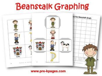 Printable Jack And The Beanstalk Graphing Activity For Preschool Kindergarten