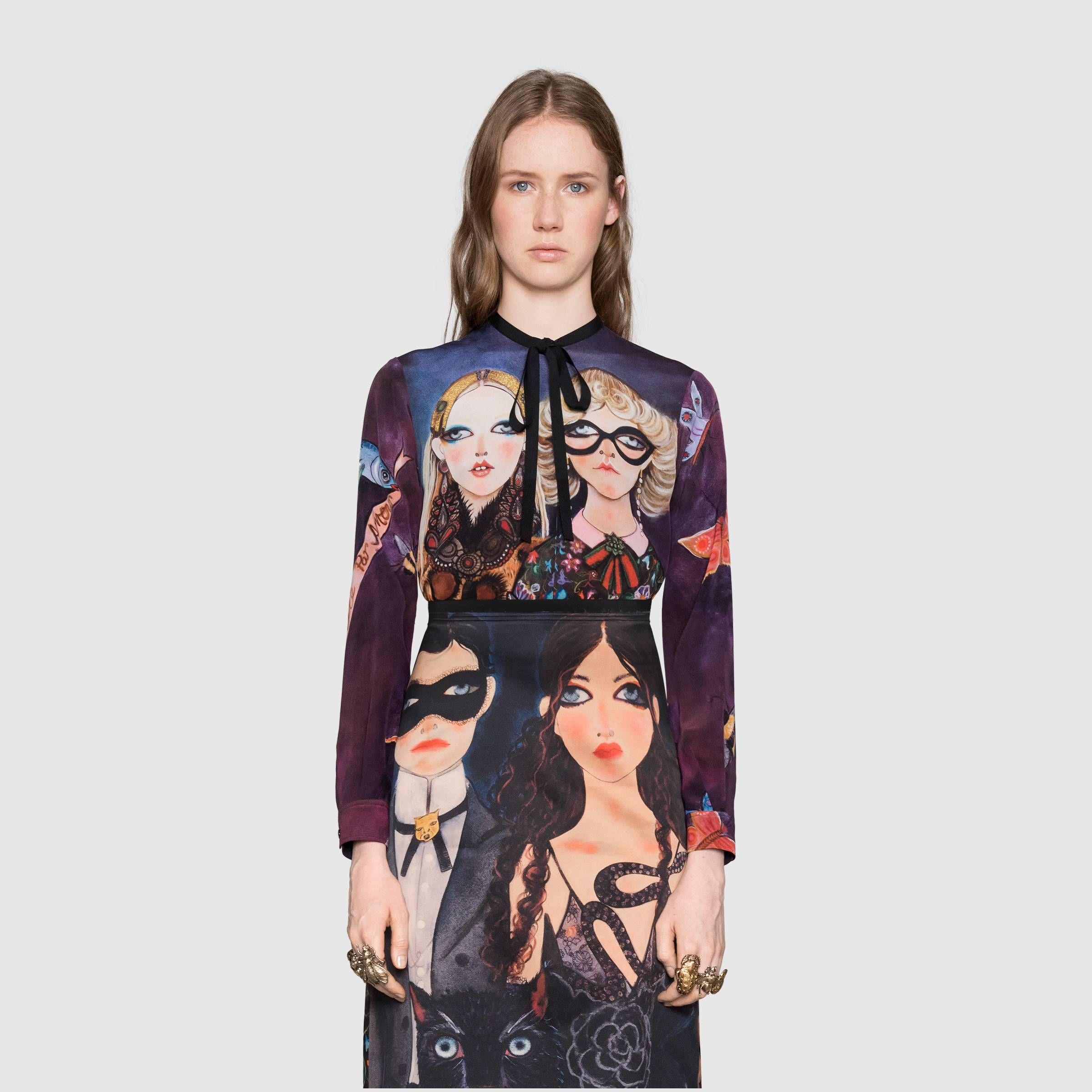 db1ab549eef Gucci - Unskilled Worker silk shirt