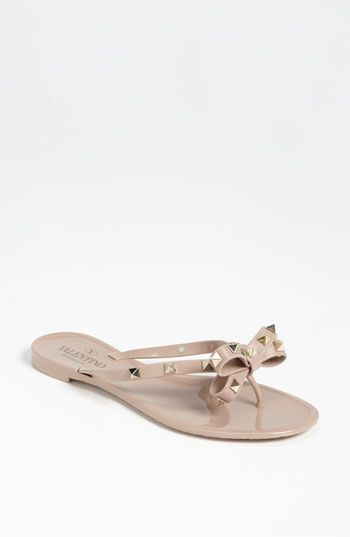 4eeb00f8f01 Valentino  Rockstud  Thong Sandal available at  Nordstrom
