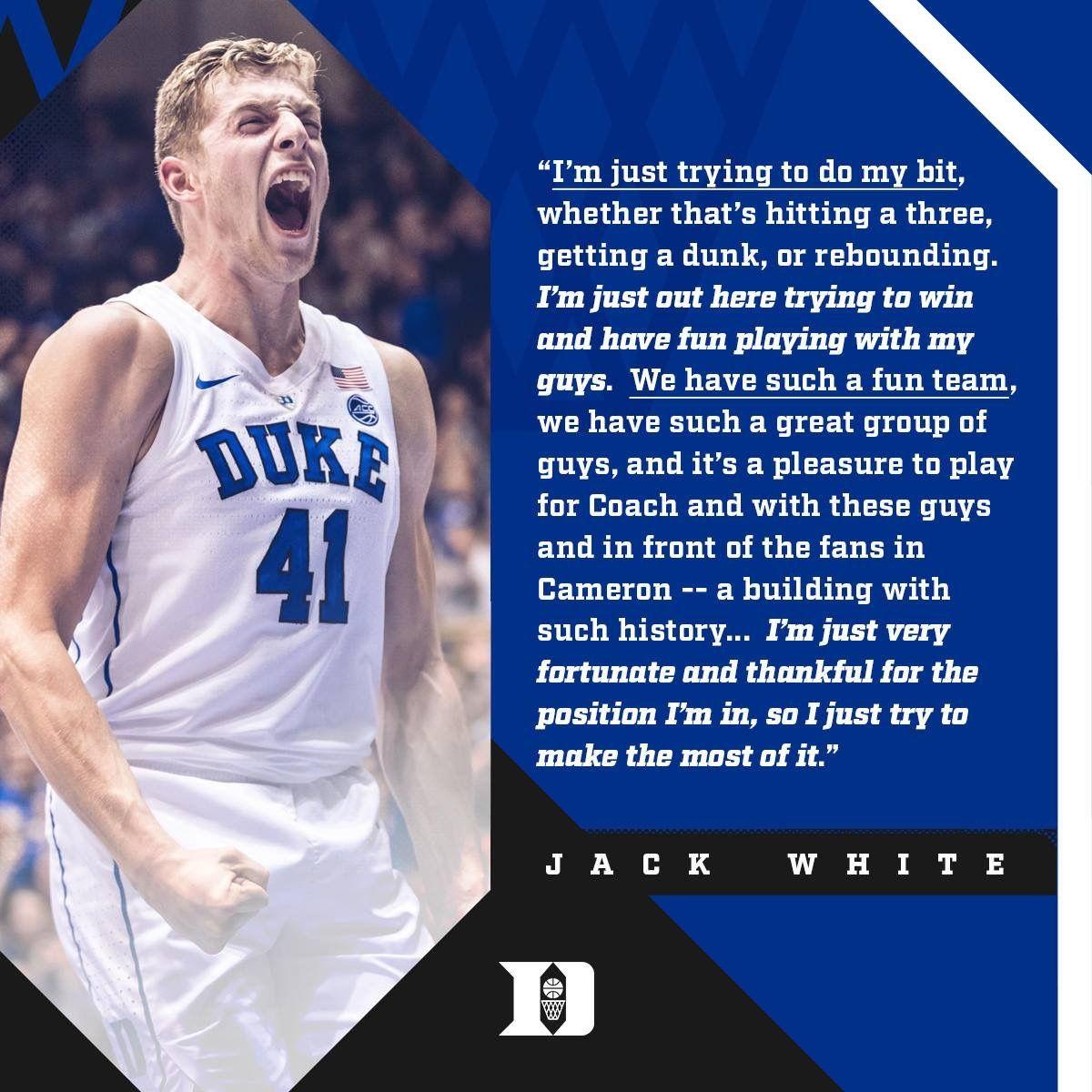 Jack White Duke Basketball 🏀 Basketball game tickets