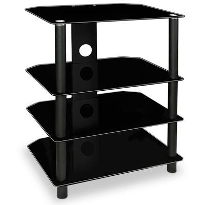 Mount It Tv Stand With Glass Shelves Tv Media Stands Glass
