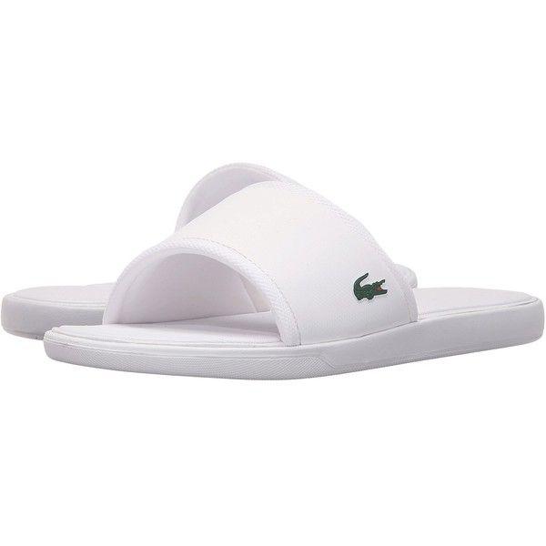 c4e6708dfe93f Lacoste L.30 Slide Sport SPM (White) Men s Shoes ( 50) ❤ liked on ...