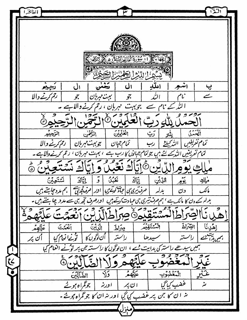 Qur'an - Word to Word Translation in Urdu by Hafiz Nazar Ahmed