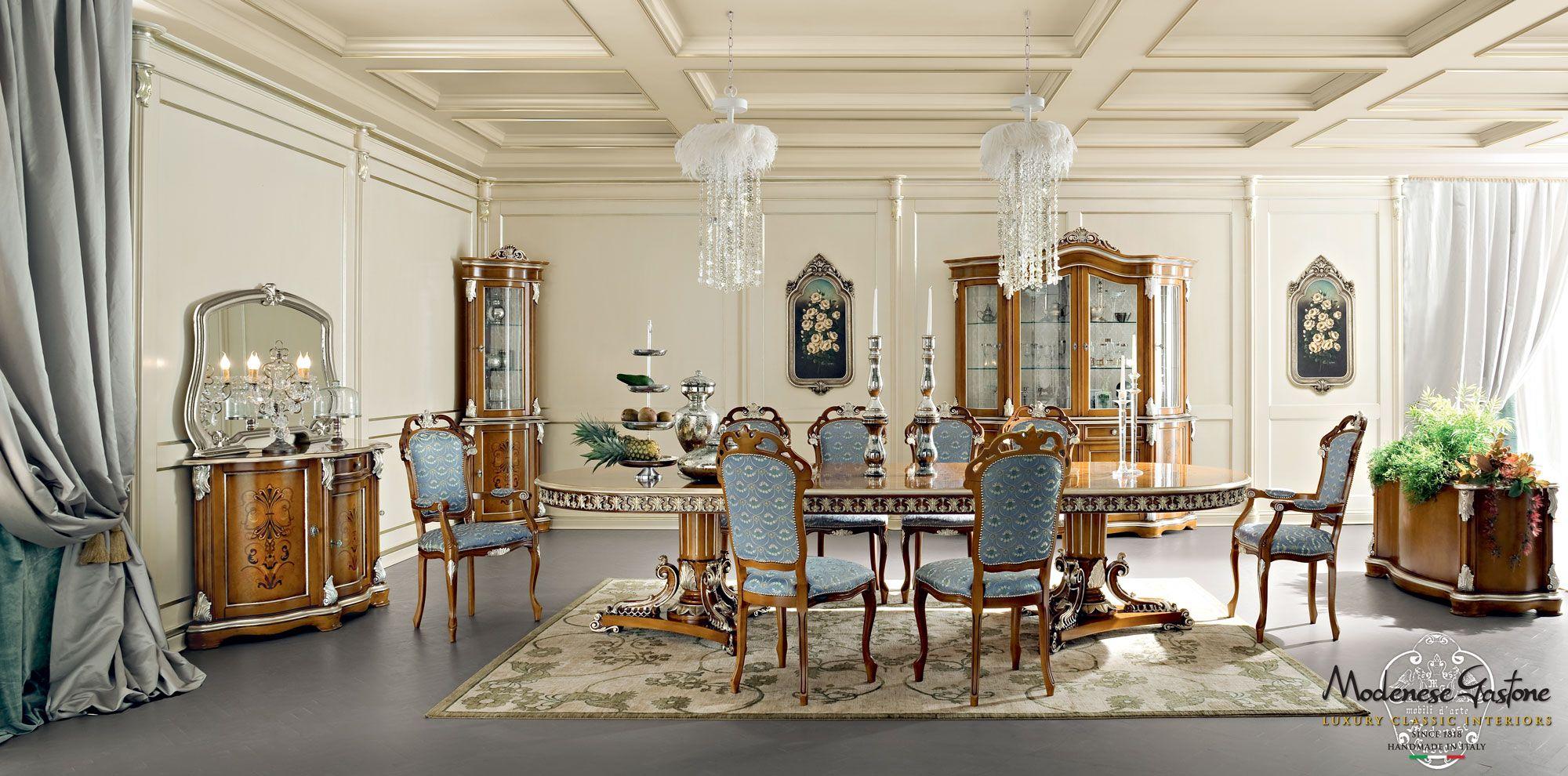 Luxury-classic-interiors-dining-room-and-dining-set-Bella-Vita ...