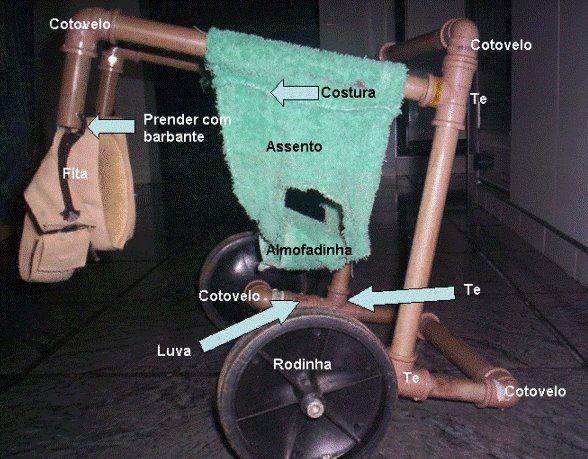 PVC PASSO A PASSO: Cadeira de Rodas para Cães em PVC -