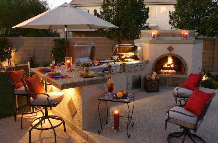 design-extérieur-terrasse-cheminée-cuisine-été-barbecue-meubles ...