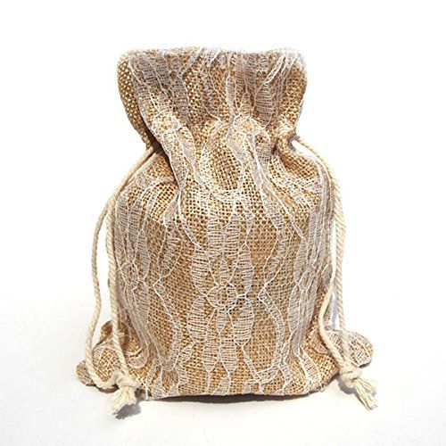 Faux Burlap Bags with Lace Overlay, 6-pack, 5-inch x 6-1/2-inch (Ivory) Party Spin http://www.amazon.com/dp/B00O83XYZI/ref=cm_sw_r_pi_dp_VLhTub1FWQGM4