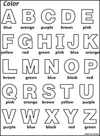 ABC Coloring Worksheet   Abc worksheets, Color worksheets ...   abc coloring pages for kindergarten