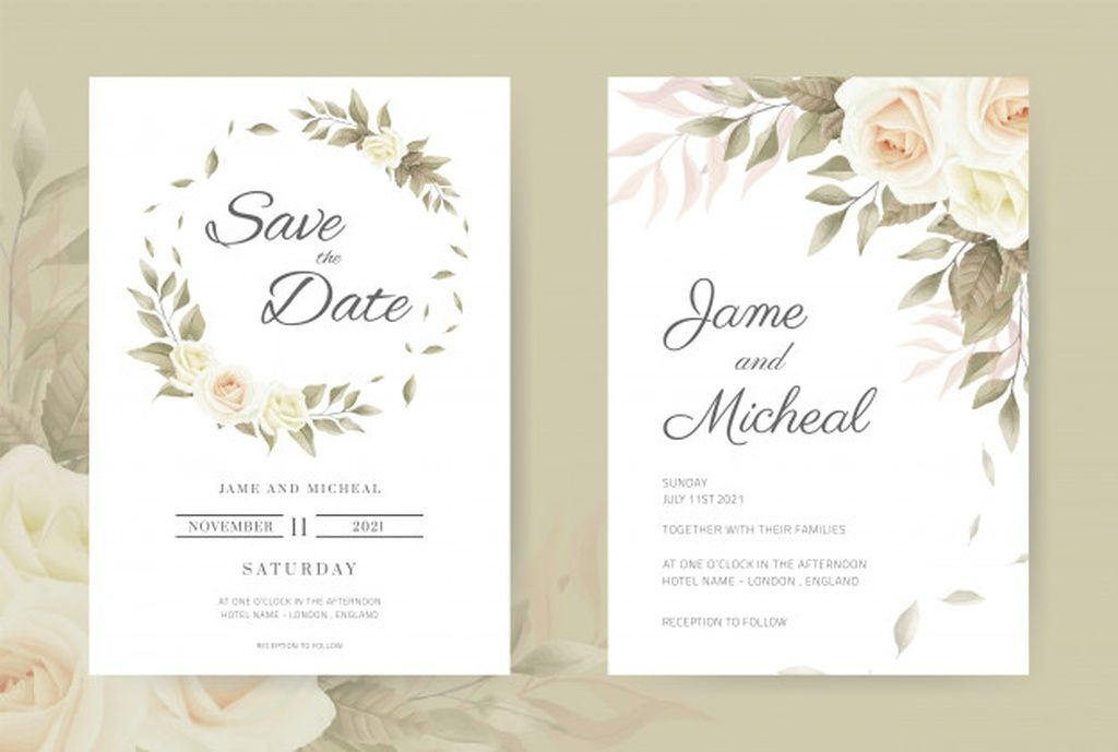 Wedding Invitation Card Vintage White Roses Set Card Template Paid Paid Paid Card Invitat Wedding Invitation Cards Wedding Invitations Invitations