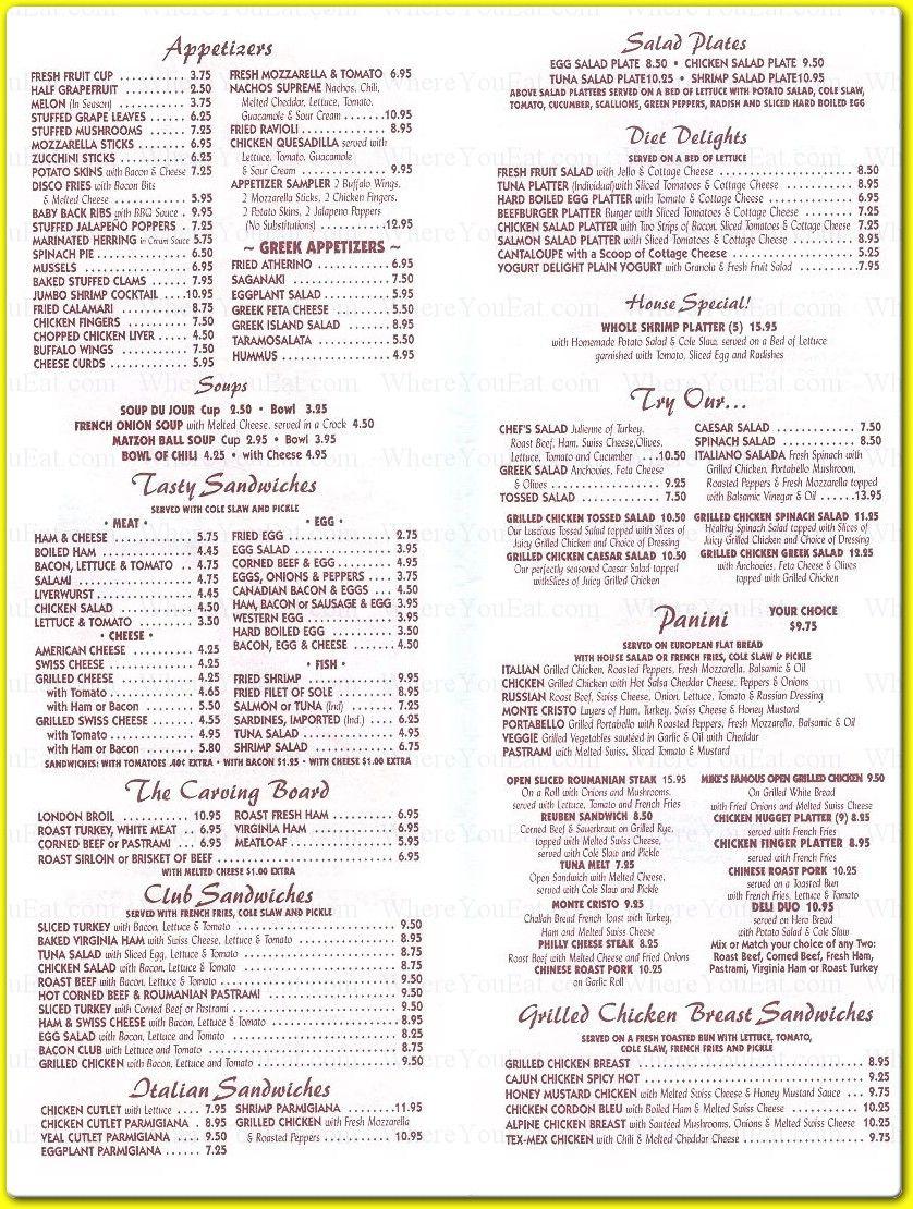 american diner food menu - Google Search   menu ideas