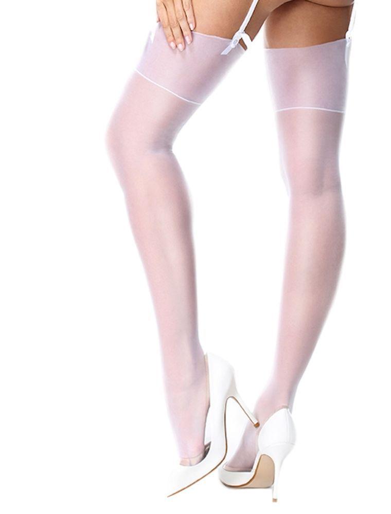 033860736f834 Miss O Silky Stockings White. 15 Denier. White gloss stockings. 2 Sizes. |  eBay