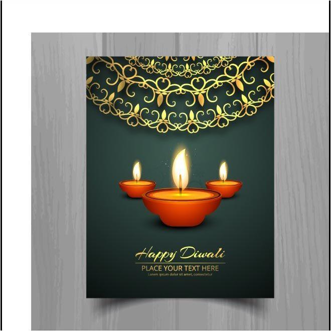 Free Vector Happy Diwali Green Background Flyer Template Http Www Cgvector Com Free Vector Happy Diwali Green Bac Happy Diwali Diwali Greetings Diwali Vector