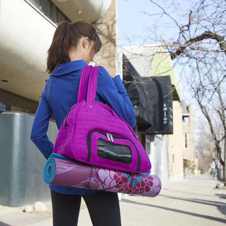 Everything Fits Gym Bag Yoga Mat Bags Gaiam Yoga Bag Yoga Gear Bags