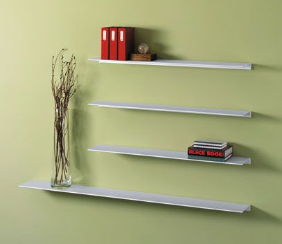 Peter Pepper Envision Wall Mounted Aluminum Shelf 12 - W
