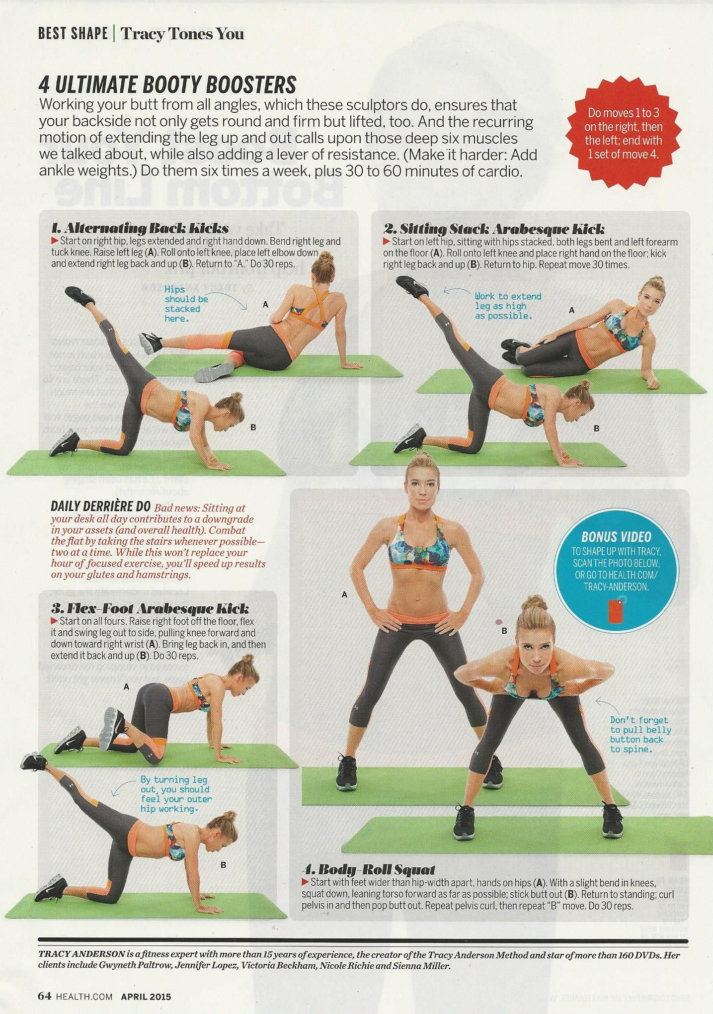 Tracey Anderson In Health Magazine 001 Jpg Jpeg Image 1435 2040 Pixels Scaled 37 Tracy Anderson Workout Lower Body Workout Tracey Anderson Workouts