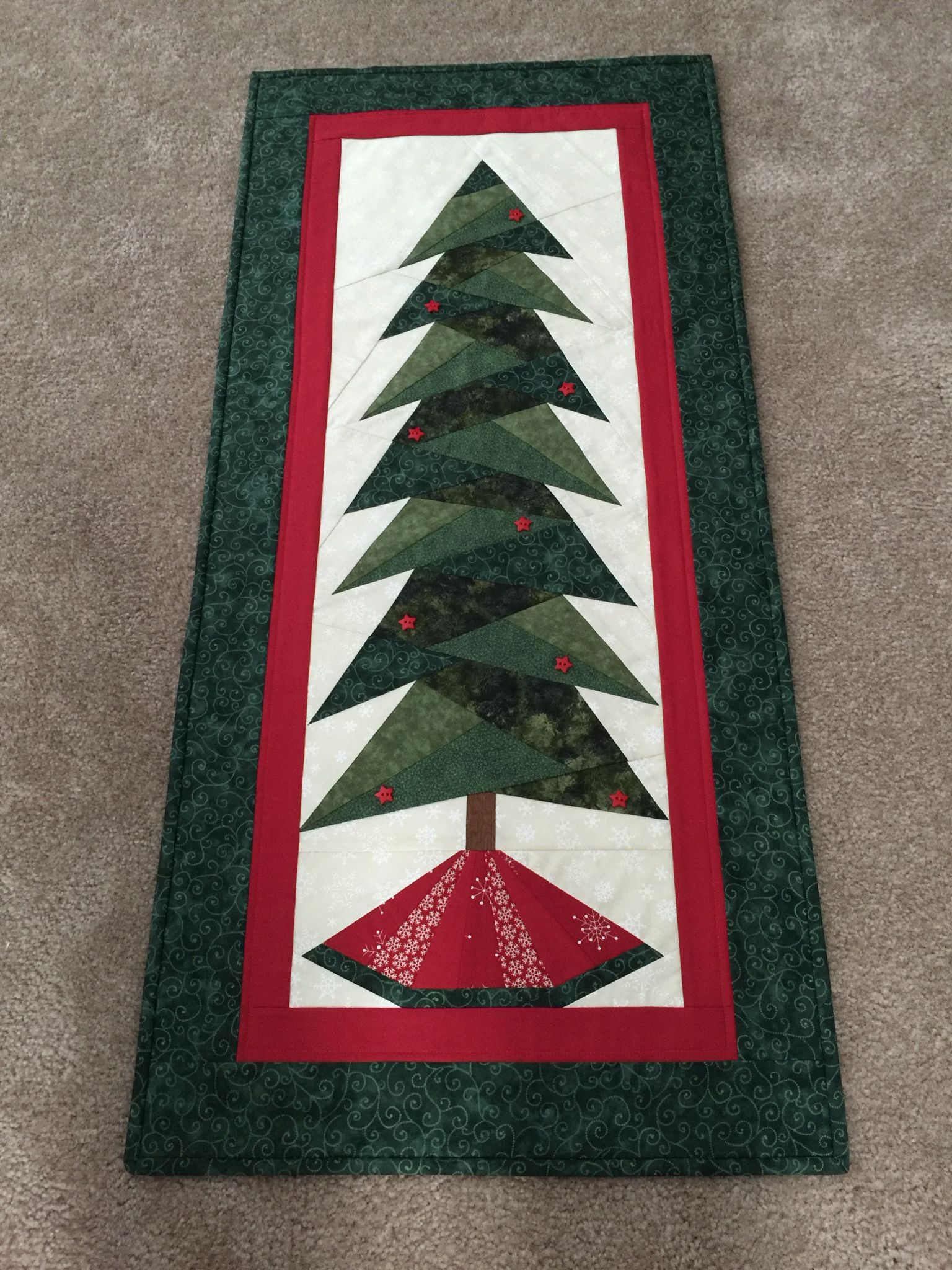 Paper Pieced Christmas Tree Wall Hanging My Sewing Projects
