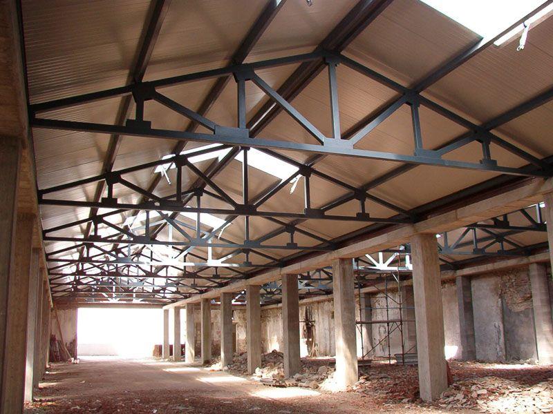 sezione capriata metallica cerca con google materiali pinterest metallica architecture