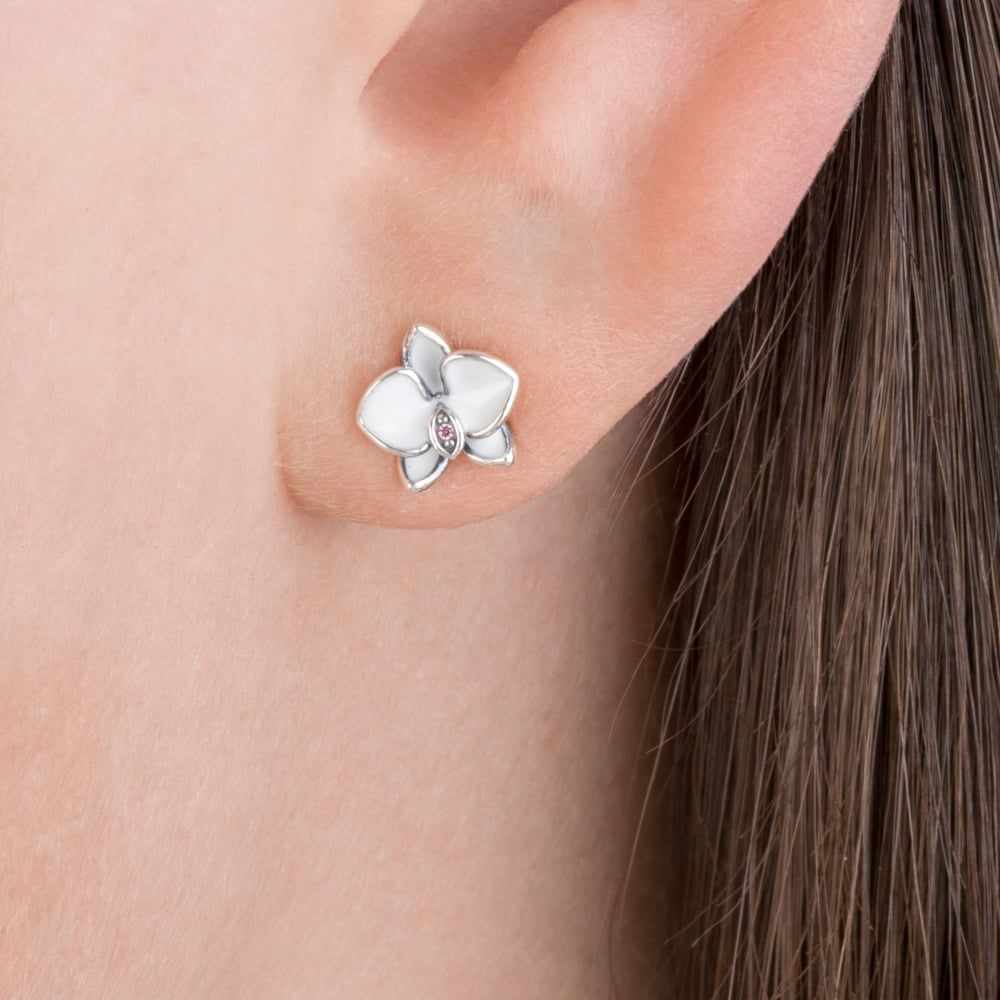 Pandora Orchid Stud Earring Top Pandora Orchid Stud Earring 82 For Your Pandora Earring Collection With Pandora Orchi Stud Earrings Pandora Earrings Earrings