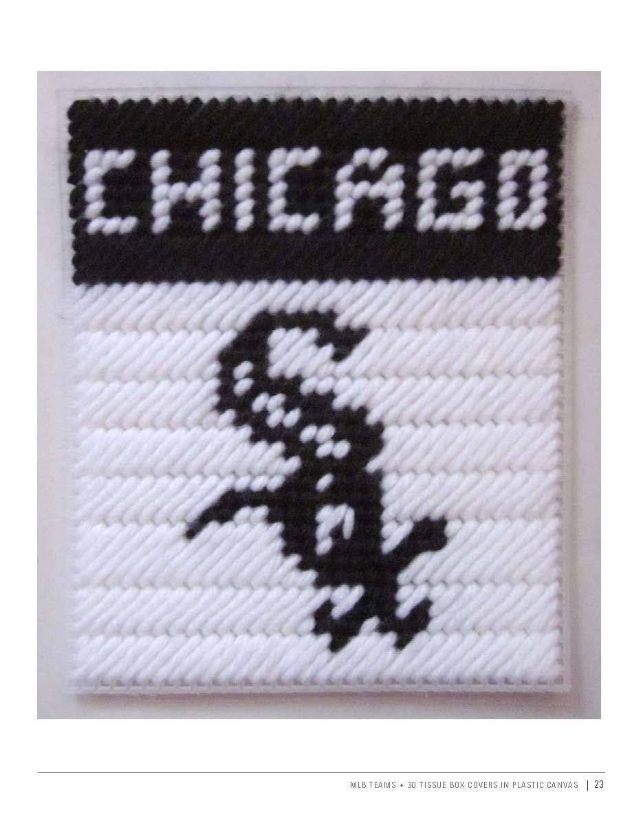 Chicago White Sox Plastic Canvas Patterns Tissue Box Covers