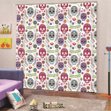 W T F Waa Skull Decor Is Our Growing Collection Of All Things Skull To Decorate Your Blackout Curtains Living Room Brown Curtains Bedroom Curtains Living Room