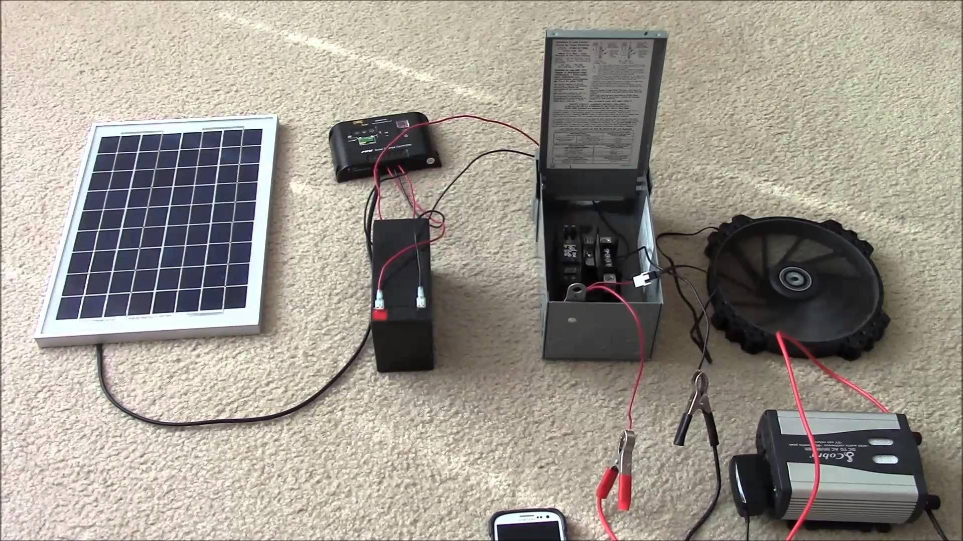 Solar Panel Systems For Beginners Pt 2 Hybrid Systems Multiple Loads Solar Panel System Solar Power System Best Solar Panels