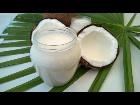 أسهل طريقة عمل زيت جوز الهند روعة لجمال البشرة وصحة الشعر وتطويله How To Make Coconut Oil Youtube Coconut Oil Recipes Coconut Food