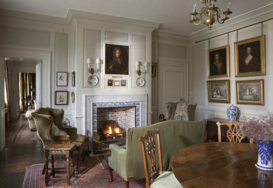Interni Case Stile Inglese : Entrance hall of gunby hall in lincolnshire chic pinterest idee