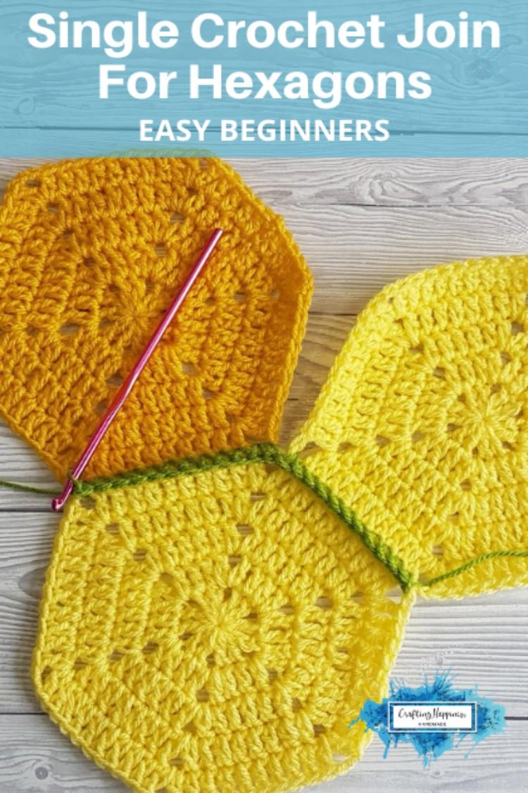 Single Crochet Join For Hexagon Blankets   Crafting ...