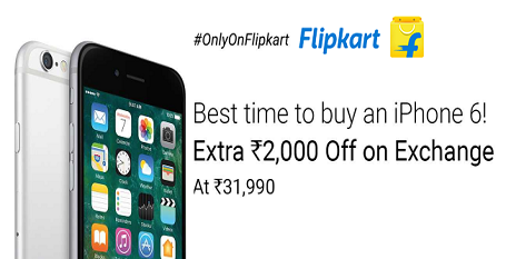 Best Time to Buy an iPhone 6 Extra Rs. 2000 Of on Exchange  Shop Online Now