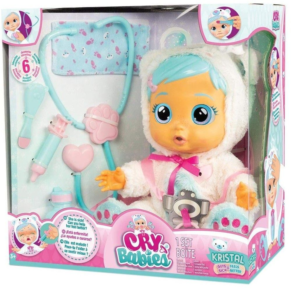 Cry Babies Kristal Deluxe Doll In 2020 Baby Alive Dolls Cry Baby Baby Crying